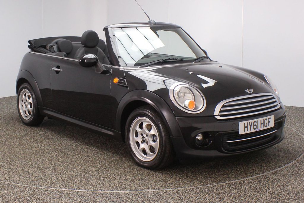 USED 2011 61 MINI CONVERTIBLE 1.6 COOPER 2DR 122 BHP SERVICE HISTORY + LOW MILEAGE + PARKING SENSOR + AIR CONDITIONING + RADIO/CD/AUX + ELECTRIC WINDOWS + DAB RADIO + ELECTRIC MIRRORS + 15 INCH ALLOY WHEELS