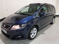 USED 2016 66 SEAT ALHAMBRA 2.0 TDI SE LUX 5d AUTO 150 BHP 1 Owner/Heated Leather/Panoramic Sun Roof/Camera/SatNav