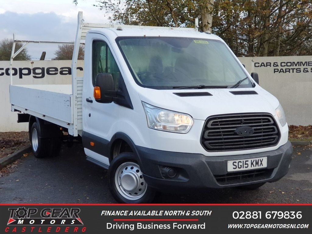 USED 2015 15 FORD TRANSIT 350 RWD 2.2 125BHP 15FT DROPSIDE HD TWINWHEEL *OVER 90 VANS IN STOCK*
