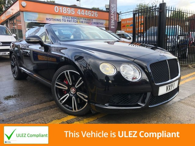 USED 2013 BENTLEY CONTINENTAL 4.0 GTC V8 2d AUTO 500 BHP VERY LOW MILEAGE * SAT NAV * FULL LEATHER SEATS * RECENTLY SERVICED BY BENTLEY