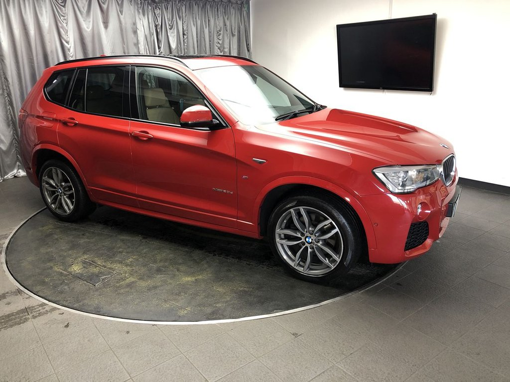 USED 2014 64 BMW X3 2.0 XDRIVE20D M SPORT 5d AUTO 188 BHP FREE UK DELIVERY, AUTOMATIC HEADLIGHTS, BLUETOOTH CONNECTIVITY, CLIMATE CONTROL, CRUISE CONTROL, DAB RADIO, DRIVE PERFORMANCE CONTROL, ELECTRONIC PARKING BRAKE WITH AUTO HOLD, GEARSHIFT PADDLES, HEATED SEATS, HILL DESCENT CONTROL, PARKING SENSORS, SATELLITE NAVIGATION, START,STOP SYSTEM, STEERING WHEEL CONTROLS, TRIP COMPUTER
