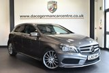 "USED 2013 13 MERCEDES-BENZ A CLASS 1.8 A200 CDI BLUEEFFICIENCY AMG SPORT 5DR 136 BHP full service history Finished in a stunning mountain metallic grey styled with 18"" alloys. Upon opening the drivers door you are presented with half leather interior, full service history, sat nav prep, bluetooth, sport seats, cruise control, AMG styling package, attention assist, rain sensors, multi-functional steering wheel, AMG sport package, illumination package"