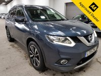 2015 NISSAN X-TRAIL 1.6 DCI N-TEC XTRONIC 5d AUTO 130 BHP IN METALLIC BLUE WITH ONLY 69500 MILES, A FULL SERVICE HISTORY, 2 OWNERS AND A GREAT SPEC INCLUDING SAT NAV, PANORAMIC ROOF AND 7 SEATS £12199.00