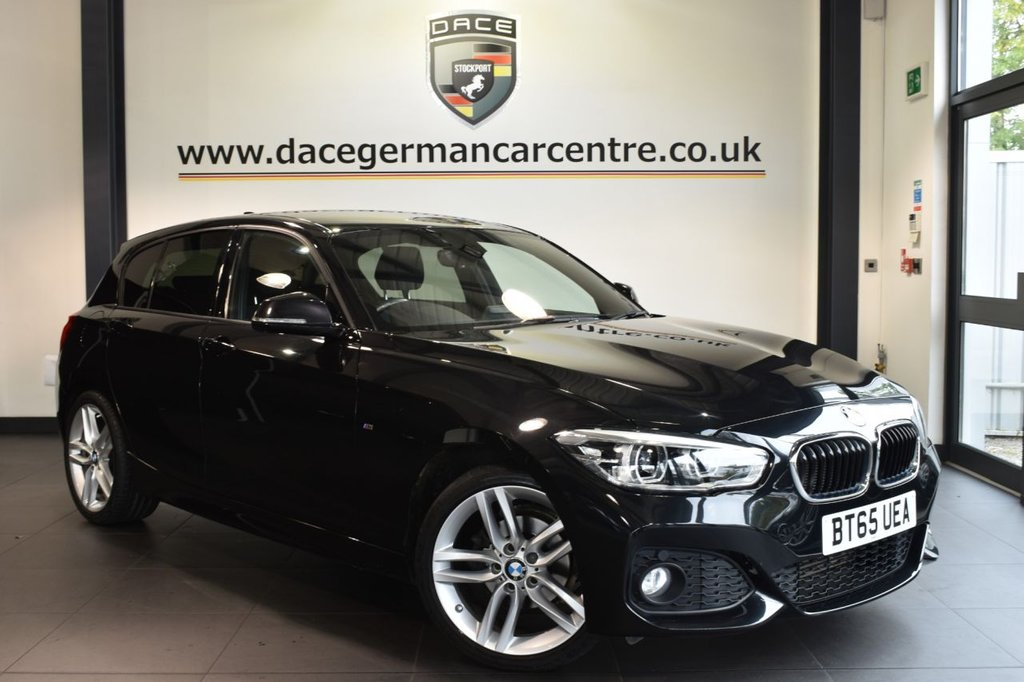 """USED 2016 65 BMW 1 SERIES 1.5 116D M SPORT 5DR AUTO 114 BHP full bmw service history Finished in a stunning sapphire metallic black styled with 18"""" alloys. Upon opening the drivers door you are presented with anthracite upholstery, full bmw service history, satellite navigation, bluetooth, cruise control, LED headlights, dab radio, Multifunction  steering wheel, M Sports package, privacy glass, Sports seats,  Rain sensors, fog lights, parking sensors"""