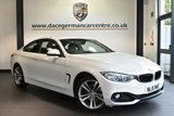 "USED 2015 15 BMW 4 SERIES 2.0 420D XDRIVE SPORT 2DR AUTO 181 BHP excellent service history Finished in a stunning alpine white styled with 18"" alloys. Upon opening the drivers door you are presented with full leather interior, excellent service history, satellite navigation, bluetooth, xenon lights, heated sport seats, cruise control, dab radio, light package,  Headlight cleaning system, rain sensors, Automatic air conditioning, parking sensors"
