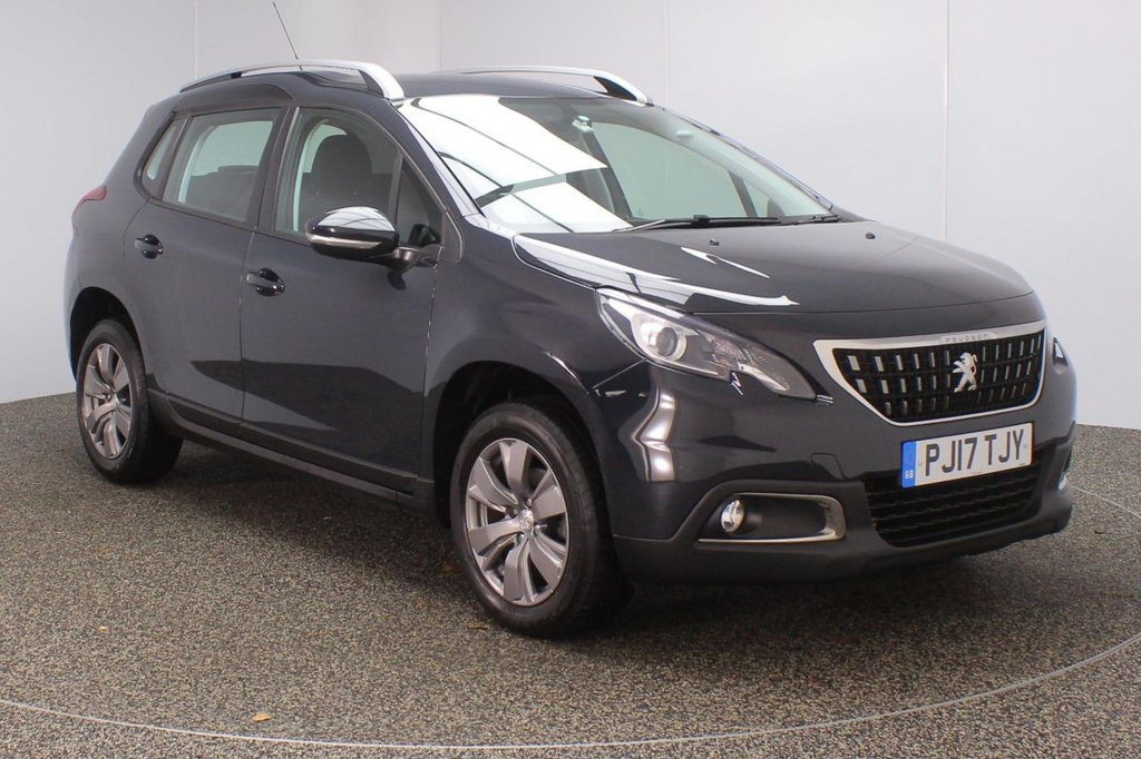 USED 2017 17 PEUGEOT 2008 1.2 PURETECH ACTIVE 5DR 1 OWNER 82 BHP SERVICE HISTORY + BLUETOOTH + CRUISE CONTROL + MULTI FUNCTION WHEEL + AIR CONDITIONING + DAB RADIO + XENON HEADLIGHTS + ELECTRIC WINDOWS + RADIO/AUX/USB + ELECTRIC MIRRORS + 16 INCH ALLOY WHEELS