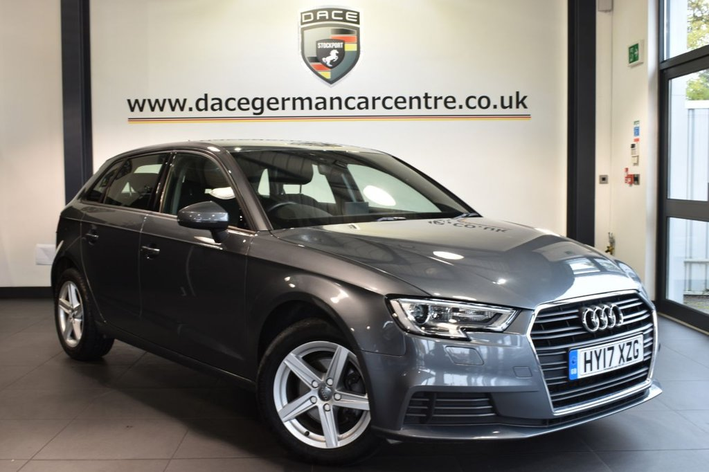 """USED 2017 17 AUDI A3 1.6 TDI SE 5DR  AUTO 109 BHP full service history Finished in a stunning metallic grey styled with 16"""" alloys. Upon opening the drivers door you are presented with cloth upholstery, full service history, bluetooth, heated seats, cruise control, heated elctric folding mirrors, multi-functional steering wheel, air conditioning, usb/aux port"""