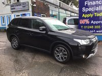 USED 2014 14 MITSUBISHI OUTLANDER 2.3 DI-D GX 3 5d 147 BHP, only 66000 miles ***APPROVED DEALER FOR CAR FINANCE247 AND ZUT0  ***