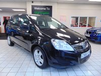 USED 2010 60 VAUXHALL ZAFIRA 1.6 EXCLUSIV 5d 113 BHP 12 MONTHS MOT + JUST SERVICED + AIR CONDITIONING + RADIO/CD PLAYER + PRIVACY GLASS + 7 SEATS + ELECTRIC WINDOWS + CENTRAL LOCKING