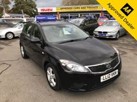 USED 2012 12 KIA CEED 1.4 VR-7 5d 89 BHP IN METALLIC BLACK WITH ONLY 1 OWNER, FULL SERVICE HISTORY, A GREAT SPEC AND IS ULEZ COMPLIANT  Approved Cars are pleased to offer this stunning metallic black 2012 Kia Ceed 1.4L VR-7 5 door manual. It has been extremely well looked after and comes with a full service history. This will make an ideal town run about car or city commuter. It has a good spec including DAB radio, AUX, FM/AM radio, isofix, cruise control, air con, electric windows and much much more. For more information or to book a test drive please call our sales team on 01622 871555.