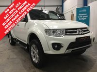 "USED 2014 14 MITSUBISHI L200 2.5 DI-D 4X4 BARBARIAN LB DCB 175 BHP NO VAT, Satellite Navigation, Heated Black Leather Seats, Bluetooth Hands Free, Rear Parking Camera, Colour Coded Canopy, Tow Bar, Cruise Control, Air Conditioning, Power Folding Mirrors, Remote Central Locking - 2 Keys, 17"" Alloys"