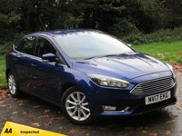 USED 2017 17 FORD FOCUS 1.0 TITANIUM 5d 124 BHP SATELLITE NAVIGATION, ALLOY WHEELS