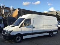 USED 2015 65 MERCEDES-BENZ SPRINTER 2.1 313CDI LWB HIGH ROOF 130BHP 1 OWNER. F/S/H. FINANCE 1 OWNER. LOW 90K MILES. F/S/H.  LOW FINANCE. PX