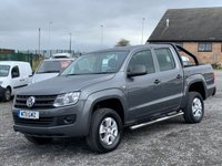 USED 2011 11 VOLKSWAGEN AMAROK 2.0 TDI DOUBLE CAB STARTLINE 4MOTION DC 120 BHP AC, 4WD, ONLY ONE PREVIOUS OWNER, BLUETOOTH,