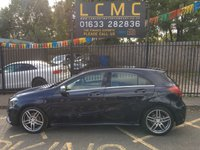 USED 2017 66 MERCEDES-BENZ A CLASS 1.5 A 180 D AMG LINE 5d 107 BHP STUNNING CAVANSITE BLUE METALLIC PAINT, BLACK ARTICO/MICROFIBRE DINAMICA LEATHER, POLISHED ALLOY WHEELS, REVERSE CAMERA, GARMIN SD SAT NAV, CRUISE CONTROL, A/C, LOW MILEAGE, STUNNING A CLASS, LOW TAX