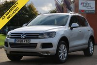 USED 2010 60 VOLKSWAGEN TOUAREG 3.0 V6 SE TDI BLUEMOTION TECHNOLOGY 5d AUTO 237 BHP FULL SERVICE HISTORY, SATELLITE NAVIGATION, FACTORY FITTED TOWBAR