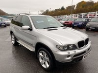 USED 2005 55 BMW X5 3.0 D SPORT 5d 215 BHP Silver, Black leather, panoramic glass sunroof, side steps & more