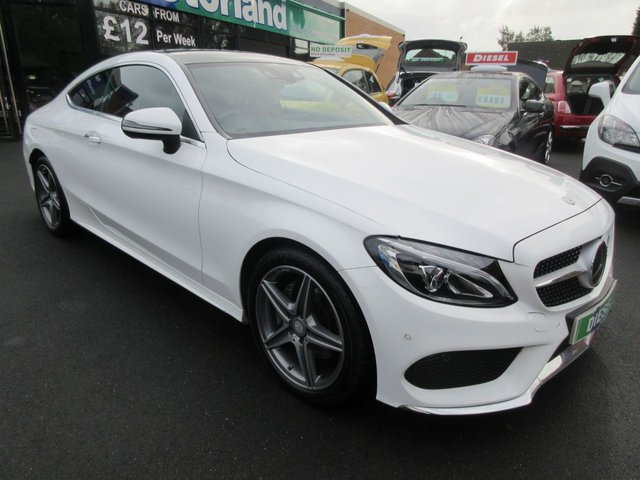 USED 2016 16 MERCEDES-BENZ C CLASS 2.1 C 220 D AMG LINE PREMIUM 2d AUTO 168 BHP CALL 01543 379066... 12 MONTHS MOT... 6 MONTHS WARRANTY... DIESEL AUTO... RED LEATHER... GLASS ROOF