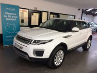 USED 2017 17 LAND ROVER RANGE ROVER EVOQUE 2.0 ED4 SE 5d 148 BHP Three owners, service history, Warranty till March 2020. Finished in Fuji White with full Black leather seats.