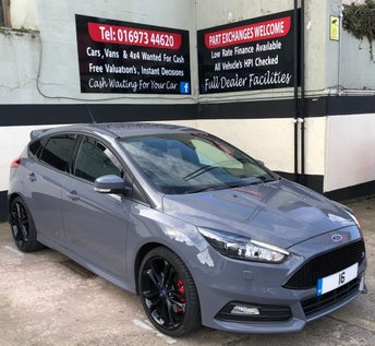 2016 FORD FOCUS ST-3 2.0 TDCI 5DR 185 BHP, SAT NAV, BLACK STYLE PACK £14850.00