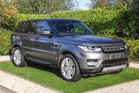 USED 2016 66 LAND ROVER RANGE ROVER SPORT 3.0 SDV6 HSE 5d AUTO 306 BHP A Superb Example in Excellent Condition with Full Land Rover Service History and an Impressive Specification. Presented in Corris Grey with a Luxury Black Leather Interior, 21 Inch Alloy Wheels and Rear Privacy Glass. Features Include Electrically Adjustable Heated Seats with Memory Function and Drivers Lumbar Support, Heated Rear Seats, Electric Sunroof, 7 Inch Touch Screen with Satellite Navigation, Front & Rear Parking Sensors with Reversing Camera, Radio, CD, Bluetooth Connectivity...