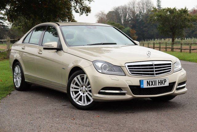 USED 2011 11 MERCEDES-BENZ C CLASS 3.0 C350 CDI BLUEEFFICIENCY ELEGANCE 4d AUTO 265 BHP Mercedes-Benz C Class 3.0 C350 CDI BlueEFFICIENCY Elegance Edition 125 7G-Tronic 4dr, Sat Nav + Leather + Camera + Fsh