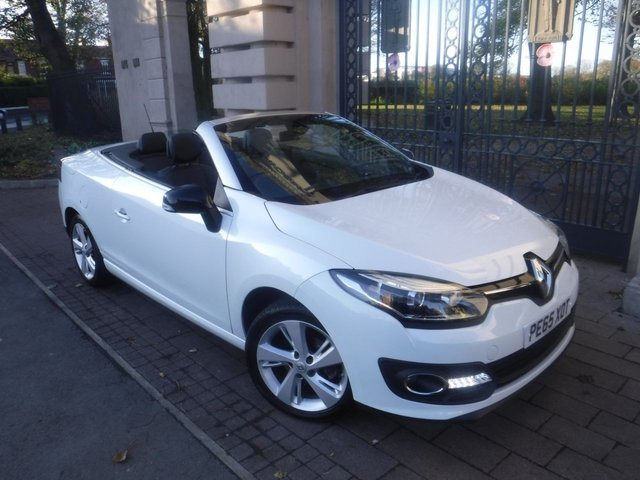 USED 2015 65 RENAULT MEGANE 1.5 DYNAMIQUE TOMTOM ENERGY DCI S/S 2d 110 BHP *FINANCE ARRANGED*PART EXCHANGE WELCOME*1 OWNER*PAN ROOF*£30 TAX*NAV*PART LEATHER*ELECTRIC ROOF*CRUISE