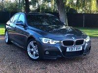 USED 2017 17 BMW 3 SERIES 2.0 320D M SPORT 4d 188 BHP 2 OWNER  GREAT SPEC SAT NAV