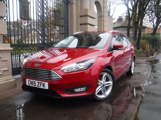 USED 2015 15 FORD FOCUS 1.6 ZETEC TDCI 5d 114 BHP *FINANCE ARRANGED*PART EXCHANGE WELCOME*£20 TAX*SATNAV*BTOOTH*DAB*A/C*SERVICE HISTORY*STOP/START*2KEYS