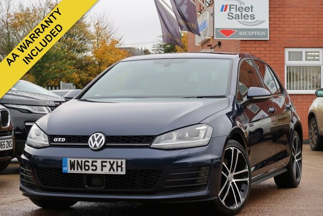 USED 2015 65 VOLKSWAGEN GOLF 2.0 GTD 5d 181 BHP SATELLITE NAVIGATION, FRONT AND REAR PARKING PILOT, HEATED SEATS