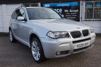 "USED 2009 09 BMW X3 2.0 XDRIVE20D M SPORT 5d 175 BHP 6 Service Stamps, Leather Heatd Seat, 19"" Y Spoke Alloy"