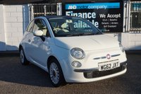 USED 2012 62 FIAT 500 0.9 LOUNGE 3d 85 BHP 4 Service Stamps, Panoramic Glass Roof, Bluetooth, USB