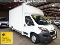 USED 2017 17 PEUGEOT BOXER 2.0 BLUE HDI 335 L3 F/C 130 BHP LOW LOADER LUTON VAN - AA DEALER PROMISE - TRADING STANDARDS APPROVED -