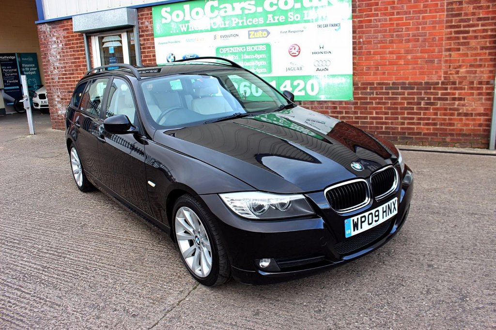 USED 2009 09 BMW 3 SERIES 2.0 320D SE TOURING 5d 175 BHP +LEATHER +10x STAMP FSH.