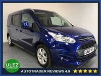 USED 2016 66 FORD GRAND TOURNEO CONNECT 1.5 TITANIUM TDCI 5d AUTO 118 BHP FULL FORD HISTORY - 1 OWNER - 7 SEATS - PAN ROOF - REAR SENSORS - AIR CON - BLUETOOTH - DAB - CRUISE - PRIVACY