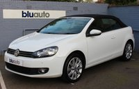 USED 2014 14 VOLKSWAGEN GOLF Convertible 1.4 S TSI 2d 121 BHP 2 owners, Full VW History, Dual Climate Control, Parking Sensors, Heated Mirrors, Bluetooth/AUX/USB Connectivity, 10 spoke Alloys