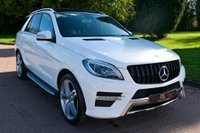 USED 2015 64 MERCEDES-BENZ M CLASS 2.1 ML250 CDI BlueTEC AMG Line (Premium) 7G-Tronic Plus 4MATIC 5dr PAN ROOF+SPORT PK+NAV+CAMERA