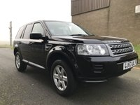 USED 2013 63 LAND ROVER FREELANDER 2.2 SD4 GS SD4 190 PS AUTO BLACK/BLACK LEATHER FLRSH 2 OWNERS