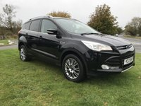 2013 FORD KUGA 2.0 TDCI TITANIUM 160ps FSH IN BLACK FACE LIFT  £8495.00