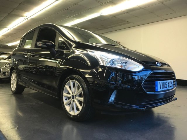 USED 2015 15 FORD B-MAX 1.6 TITANIUM 5d AUTO 104 BHP FULL SERVICE HISTORY, REAR PARKING SENSORS, BLUETOOTH PHONE, ELECTRIC FOLDING DOOR MIRRORS.