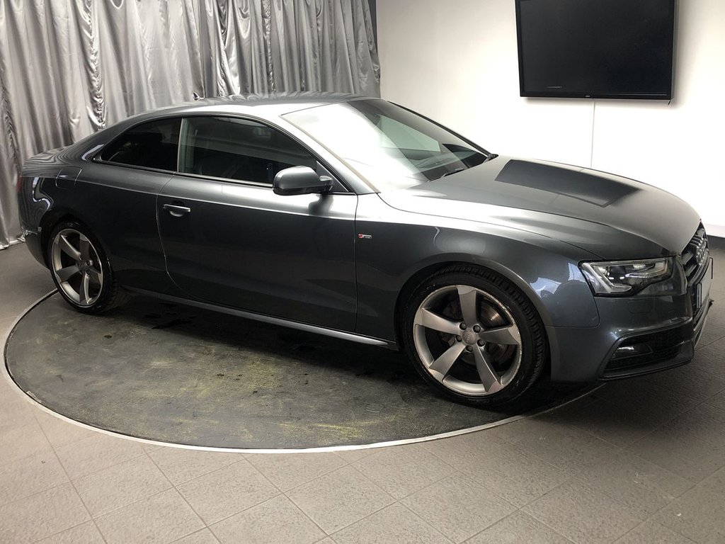 USED 2013 63 AUDI A5 2.0 TDI BLACK EDITION 2d 177 BHP FREE UK DELIVERY, AUTOMATIC HEADLIGHTS & WINDSCREEN WIPERS, AUTOMATIC TRI-ZONE CLIMATE CONTROL, BANG & OLFUSEN SOUND SYSTEM, CRUISE CONTROL, DAB RADIO, ELECTRONIC PARKING BRAKE, HEATED DOOR MIRRORS, HEATED SEATS, LED DAYTIME RUNNING LIGHTS, PARKING SENSORS FRONT AND REAR, PRIVACY GLASS, STEERING WHEEL CONTROLS, TRIP COMPUTER