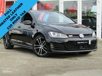 USED 2015 65 VOLKSWAGEN GOLF 2.0 GTD 5d 181 BHP STUNNING, 1 OWNER, £20 Road Tax, VW GOLF 2.0 GTD 181 BHP. (Winter Pack). Finished in DEEP BLACK PEARL Metalic, with contrasting FULL BLACK HEATED LEATHER sports interior. This is a low mileage classic HOT HATCH. Comes with LED run Lights, SAT NAV, DAB, B/Tooth, Cruise, Power Folding Mirrors and Park Sensors. Performance as the name suggests is very lively and makes an Ideal Family Hatch. Dealer serviced at 6279 miles, 16919 miles and on arrival by EMC.