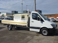 USED 2016 66 MERCEDES-BENZ SPRINTER 313 CDI LWB DROPSIDE, 129 BHP [EURO 5]