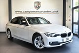 "USED 2013 13 BMW 3 SERIES 1.6 316I SPORT 4DR 135 BHP full service history Finished in a stunning mineral metallic white styled with 17"" alloys. Upon opening the drivers door you are presented with cloth uoholstery, full service history, bluetooth, cruise control, dab radio, light package, privacy glass,  Automatic air conditioning, Rain sensors,  Fog lights,  Rain sensors,  Sport Line, parking sensors"