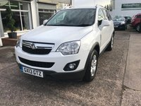 USED 2013 13 VAUXHALL ANTARA 2.2 DIAMOND CDTI S/S 5d 161 BHP 1 OWNER-LOW MILEAGE ONLY 36,000 MILES-5 MAIN DEALER STAMPS-LEATHER HEATED SEATS-REAR PARKING SENSORS-DIESEL