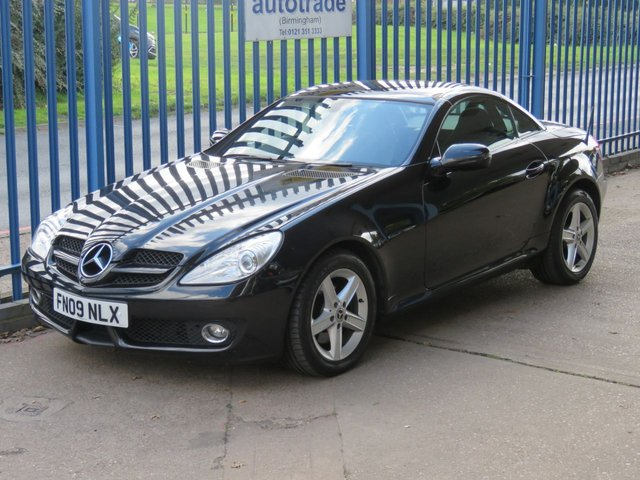 USED 2009 09 MERCEDES-BENZ SLK 1.8 SLK200 KOMPRESSOR Convertible Full leather Climate Alloys