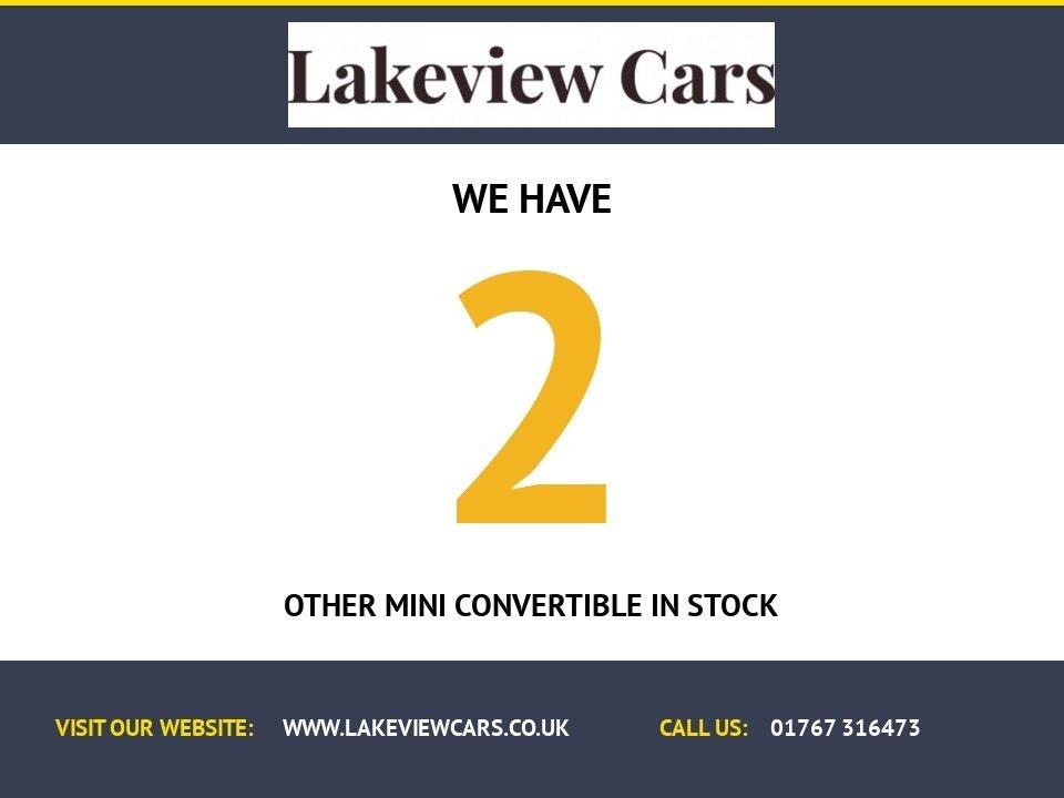 USED 2007 07 MINI CONVERTIBLE 1.6 COOPER SIDEWALK 2d 114 BHP