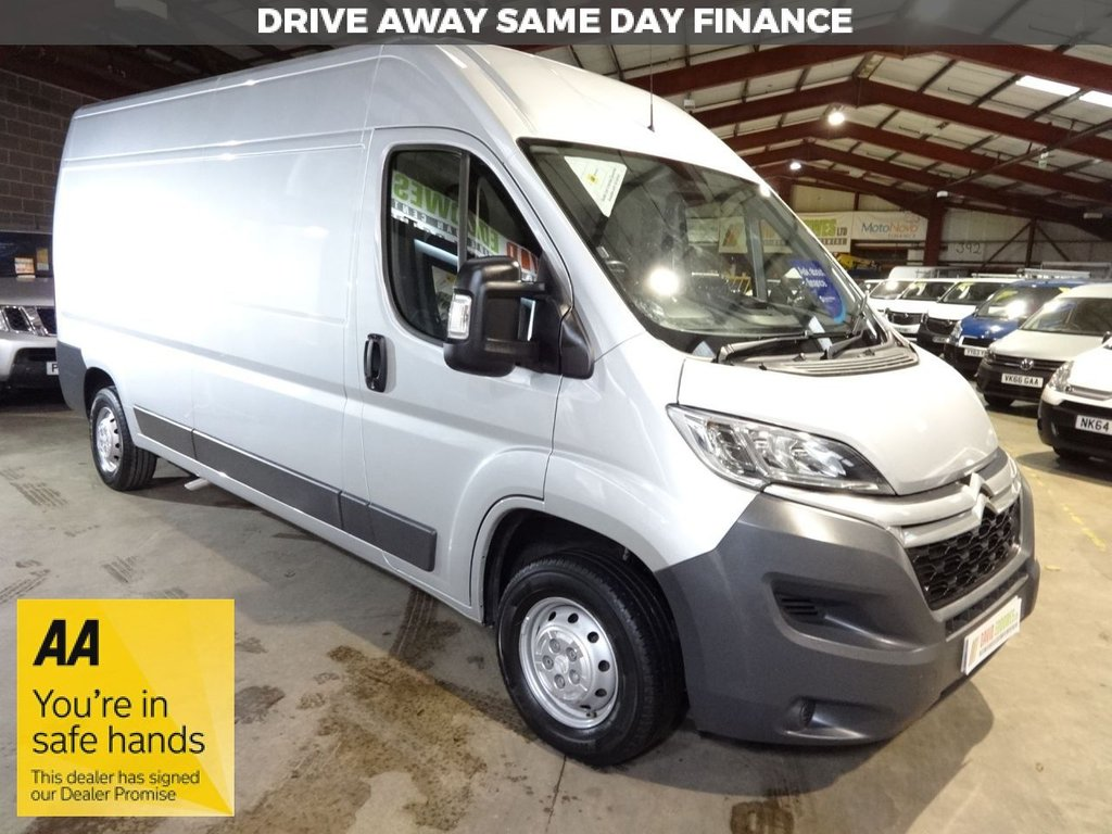 USED 2017 67 CITROEN RELAY 2.0 35 L3H2 ENTERPRISE BLUEHDI 130 BHP LWB VAN - AA DEALER PROMISE - TRADING STANDARDS APPROVED -