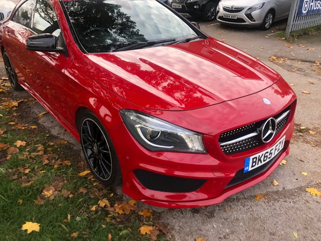USED 2015 65 MERCEDES-BENZ CLA 2.1 CLA220 CDI AMG SPORT 4d AUTO 170 BHP GREAT EXAMPLE WITH ALLOY WHEELS, PARK SENSORS, HEATED LEATHER SEATS, RADIO/CD/AUX/USB, CRUISE CONTROL, CLIMATE CONTROL, SATELLITE NAVIGATION