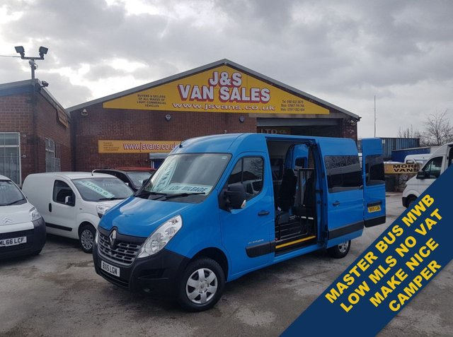 USED 2015 15 RENAULT MASTER MINIBUS MPV SHUTTLE BUS DISABLED ACCESS NO VAT ((((((((((((((((( NO VAT TO ADD )))))))))))))))))))))))))))